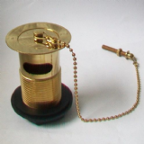 Gold Effect Slotted Basin Waste with Plug and Chain - 74000470